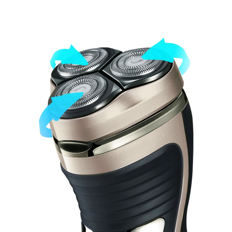 Aparat de ras, barbierit umed si uscat, 360 ̊, baterie litiu-ion 45 minute de functionare fara fir, led Rohnson Shaver R1030