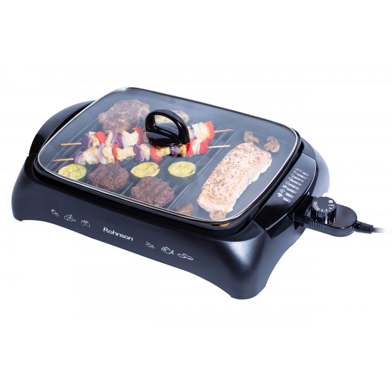 Grill 2200W cu capac, Rohnson R250