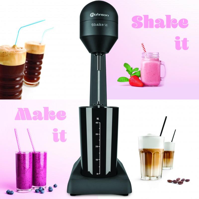 Drink Shaker 100W, 2 viteze, recipient detasabil 0.5L Rohnson R447