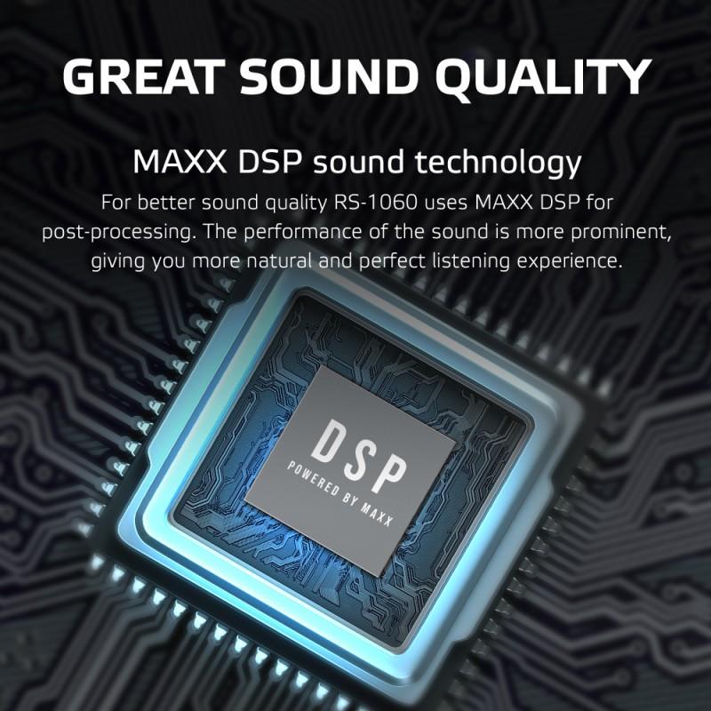 Boxa Difuzor Wireless Rohnson RS1060 Defiant 60W, 3 moduri sunet, 2 difuzoare, AUX -IN slot card micro SD 64GB, tech. subwoofer TWS(super bass boost), Bluetooth, cablu incarcare USB-C, protectie apa, baterie 6600mAh, timp ascultare 12h, freq. 18.000 Hz