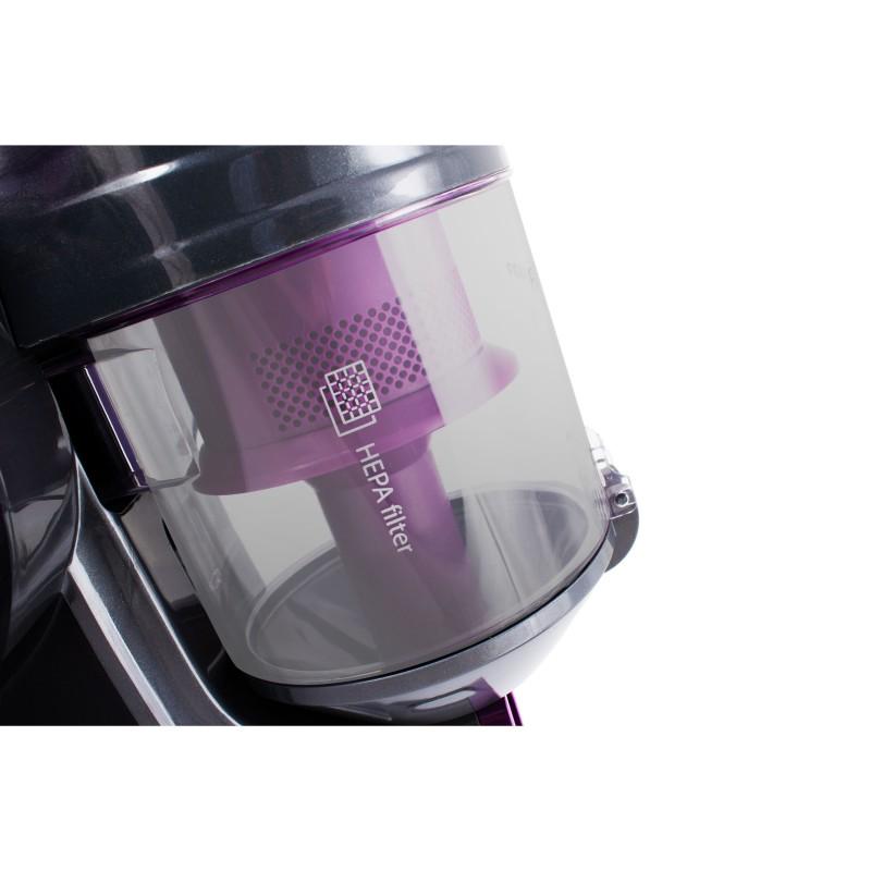 Aspirator fără sac Cyclone R-1225 Cyclonic Tech 800W, ERP, Filtru HEPA, recipient 2L, negru-violet