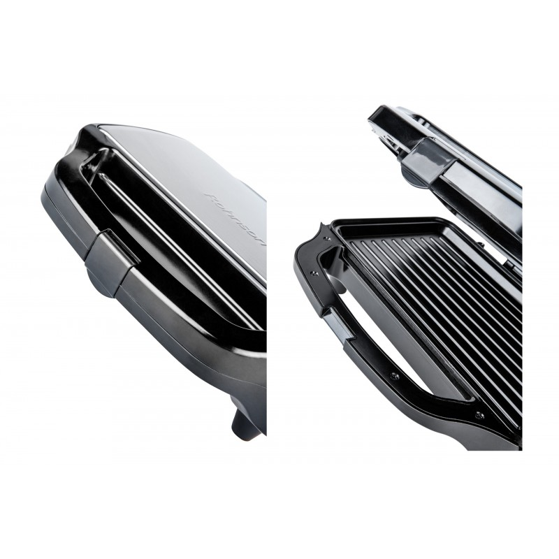 Sandwich maker Rohnson R2755, putere 900W, 28.5x15.2cm, picioare antiderapante, indicator luminos, maner izolat termic, functie de blocare