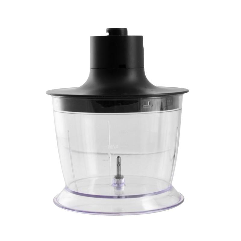 Mixer/ Blender vertical de mana cu accesorii Rohnson R595, putere 1200W, 2 module viteza, 15.500 RPM, indicator luminos, Black